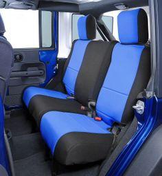 CoverKing Neoprene Rear Seat Cover-Jeep Wrangler JK 2D 2011-2013