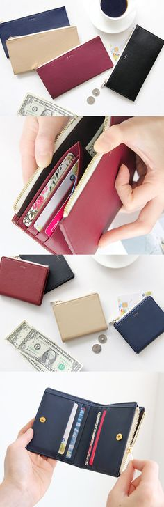 Discover fresh and innovative ways to keep your essentials with this classy wallet! So simple yet unique~