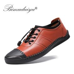 BIMUDUIYU Male Shoes Casual Fashion Genuine Leather Loafers Luxury Brand Designer Italian Men Shoes Breathable Flats Sneakers Outfit Accessories From Touchy Style Leather Shoes Brand, Black Leather Shoes, Leather Loafers, Men's Leather, Male Shoes, Mens Shoes Boots, Men's Shoes, Shoes Sneakers, Running Shoe Reviews