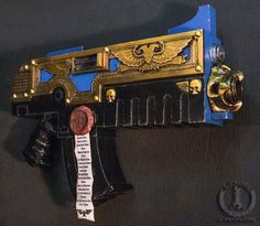 Your place to buy and sell all things handmade Chaos Legion, Prop Making, Cool Guns, Warhammer 40000, Space Marine, Weapons, Costume Ideas, Larp Costumes, Cool Stuff