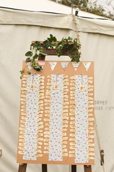 Wedding Table Plan for Long Tables