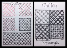 Zentangle® : Tangle Pattern : Chillon | Flickr - Photo Sharing! ~♥ #doodle #zentangle #zendoodle #drawing #art