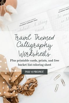 Have fun learning calligraphy with these travel themed calligraphy worksheets on Patreon. Also enjoy the free travel bucket list coloring sheet! #travel #calligraphyworksheets #learncalligraphy #moderncalligraphy Modern Calligraphy Alphabet, Calligraphy Worksheet, Learn Calligraphy, Free Coloring Sheets, Travel Themes, Free Travel, Printable Cards, Fun Learning, Creative Business