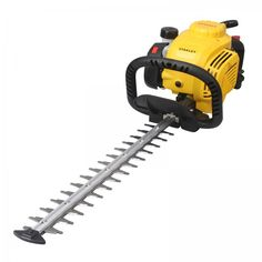 Stanley 4 Stroke Petrol Hedge Trimmer, 2 Year Warranty. The Stanley 4 stroke Hedge Trimmer comes with a hardened steel counter rotating blades with a double cutting function. Slim and slender body makes the Hedge trimmer easy and convenient to handle in any situation. The High-Tech patented engine allows the product to be used at any angle, without loss of power or damage to the engine. Garden Equipment, Outdoor Power Equipment, Chainsaw Sharpener, Hedges, Counter, Engine, Handle, Tech, Slim