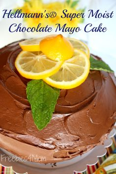 Get the Hellmann's® Super Moist Chocolate Mayo Cake recipe because it is the best chocolate cake you've ever tasted!  http://freebies4mom.com/mayocake ad BringOutTheBest