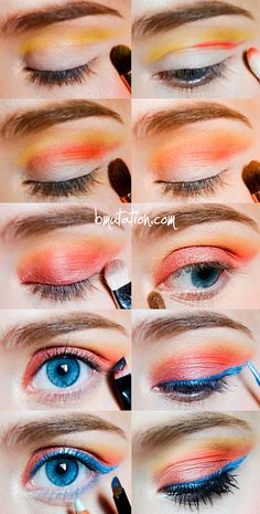 5843b99dd55 This sunset makeup is a look to never forget. The combination of orange