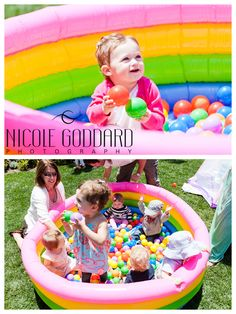 Birthday party idea..fill up pool with balloons! Nicole Goddard Photography!