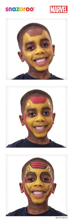 Snazaroo team up with Marvel - follow our three-step Iron Man face paint guide!