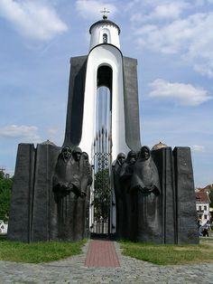 Island of Tears, Minsk, Belarus. The Island of Tears, is a memorial set up in 1988 to commemorate Belarusian soldiers who died in the USSR's disastrous, 9-year war in Afghanistan (1979-1988). The centerpiece of the memorial is the chapel, with haunting figures of grieving mothers, sisters and widows at its base.