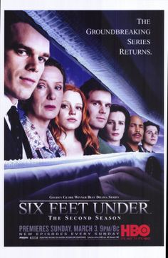 Six Feet Under: the most entertained I've ever been, one episode after another. Some people think this will be gross, but it isn't about the dead so much as it is about this incredible family. It's my numero uno must see tv.
