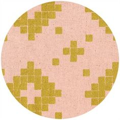 Alexia Marcelle Abegg for Cotton and Steel, Mesa, CANVAS, Tile Rose Metallic Gold