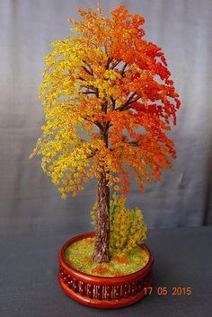 Осеннее деревце | biser.info - всё о бисере и бисерном творчестве