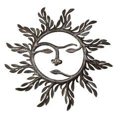 Pace of the Sun Wall Art made by Haitian artisans from drums Sun Tattoos, Leaf Tattoos, Good Morning Sunshine, My Sunshine, Sun Moon, Stars And Moon, 55 Gallon Drum, Sun Designs, Sun Art