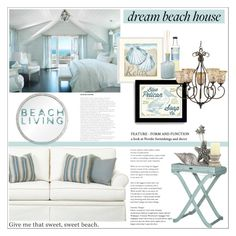 """Dream Beach House"" by signaturenails-dstanley ❤ liked on Polyvore featuring interior, interiors, interior design, home, home decor, interior decorating, Universal Lighting and Decor, LAFCO, Quoizel and Vagabond House"