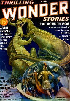 wonder stories #scifi #dinosaur