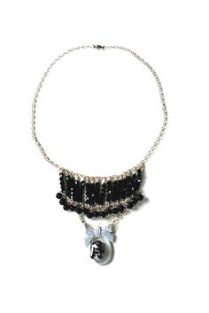 Collier zèbre du Figaro - collier fantaisie fait main. Animal