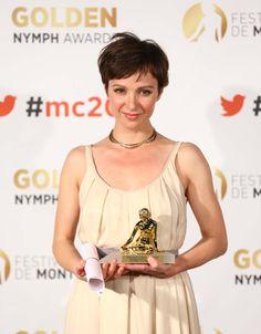 "Outstanding Actress : Julia Koschitz (Television Film) ""Take Good Care of Him"" 2014 Golden Nymph Winner"