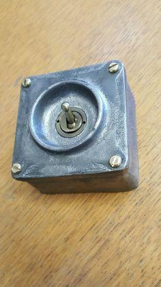 NEW Cast Metal Long 4 Gang Vintage Industrial Light Switch BS EN Approved