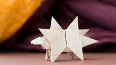 Оригами Динозавр. Как сделать динозавра из бумаги. Стегозавр