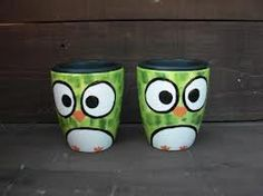 Hoot Hoot... PRECIOUS.  Do you think we could convert this into a Teen Room craft?  Maybe with Sharpies? And then they stick them in the oven at home? @Heather Holowach @Susan Myers