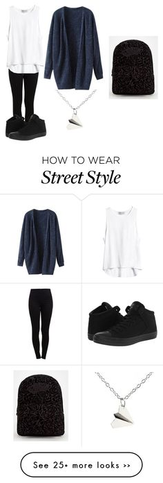 """""""Sans titre #351"""" by locicaemma on Polyvore featuring Pieces, Converse and Vans"""