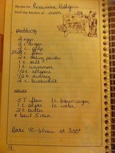Persimmon Pudding - What I would do just to have some of my grandmother's once again....