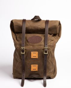 Fresh in and ready for fall adventures: the Frost River Arrowhead Trail roll top backpack. Tough waxed canvas, simple style. Great as a waterproof bike bag or versatile hiking pack!
