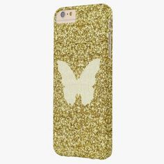 Cute iPhone 6 Case! This Lace Butterfly On Gold Glitter iPhone 6 Case can be personalized or purchased as is to protect your iPhone 6 in Style!