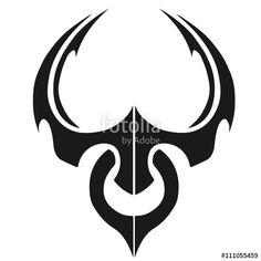 Tribal Taurus Tattoos | Taurus Libra Gemini Tribal v2 by ...