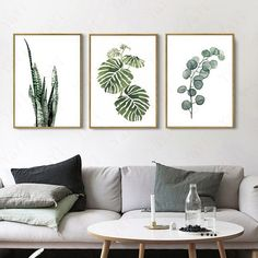 wall Prints Paint - HD Canvas Print Home Decor Wall Art Plants Painting Print Picture Unframed. Living Room Prints, Living Room Decor, Diy Wall Art, Home Decor Wall Art, Decor Interior Design, Interior Decorating, Budget Decorating, Deco Jungle, Art Mur