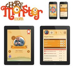 "Chore Monster makes chores fun for kids. Chore Monster App. You list the chores. Kids log on & do chores. Once chore has been completed & parent approved, they earn ""points."" Points can be redeemed from a parent established list of rewards (candy, camping trip, etc.)."