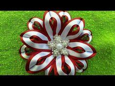 Flor de cetim dupla cor. muito Fácil. - YouTube