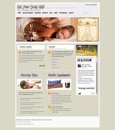 WordPress site titusvillemassage.com uses the TwentyElevenChildTheme wordpress website template