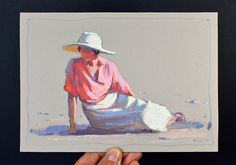 Lena Rivo's Painting Blog: Lady on the sand