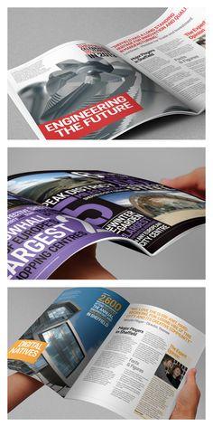 Digital brochure spreads