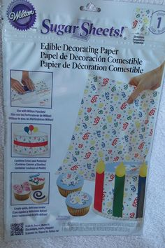 Wilton Sugar Sheet Serpentin Design For Cake & Cupcakes Decorating Sheet Cakes Decorated, Sugar Sheets, Wilton, Serpentina, Modern Garden Design, Cool House Designs, Cake Smash, Cupcakes Decorating, Decoration