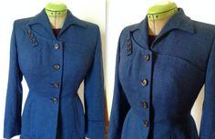 1940s Edith Small Originals Dress Suit, Small to Small Medium