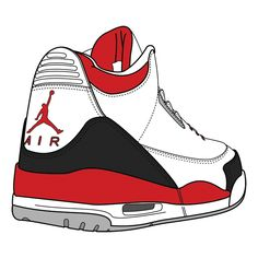 S Jordan Shoes Drawings Clipart - Free Clipart