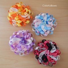 absolutely cute and colorful ponies hair bows