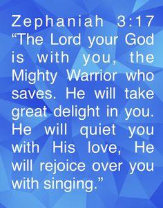 Zephaniah 3 17, Gods Promises, Singing, Lord, Promises Of God