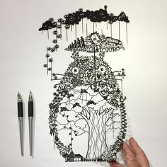 Intricately Detailed Papercut Designs by RIU