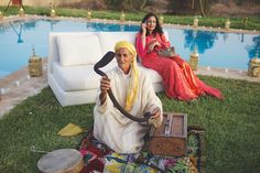 Snake Charmer | Gorgeous Moroccan Wedding | Claire Eliza Photography | Bridal Musings Wedding Blog 33
