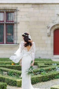 Full Sleeve Wedding Dress by Rue de Seine