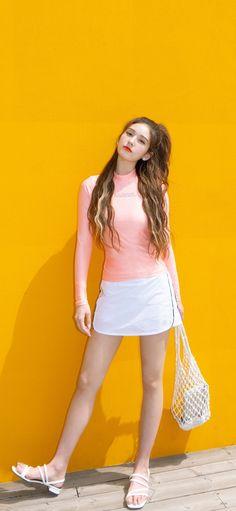 Jeon Somi, Cha Eun Woo, My Crush, Beautiful Asian Girls, Korean Beauty, Kpop Girls, Pink Dress, Girl Fashion, Singer
