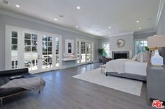 kyle richards home bedroom Master Bedroom Layout, Gray Bedroom Walls, Bedroom Layouts, Cozy Bedroom, Home Decor Bedroom, Bedroom Ideas, Master Bedrooms, Gray Walls, Large Bedroom Layout