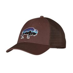 Patagonia Fitz Roy Bison LoPro Trucker Hat - Pinecone Brown PINC