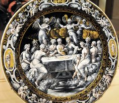 Leonard Limosin - Round Dish with the Wedding Feast of Cupid and Psyche at National Art Gallery Washington DC by mbell1975, via Flickr