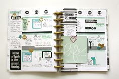 'Life is Good' weekly Happy Planner™ pages by mambi Design Team member Jen Randall | me & my BIG ideas
