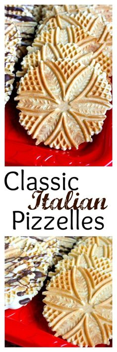 Classic Italian Pizzelles - an old family favorite, light and crispy and…