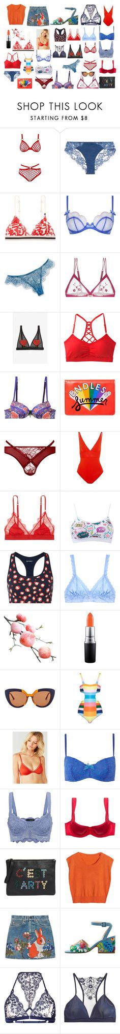 Designer Clothes, Shoes & Bags for Women Mara Hoffman, Agent Provocateur, Roberto Cavalli, Gucci, Sport, Orange, Shoe Bag, Polyvore, Pink